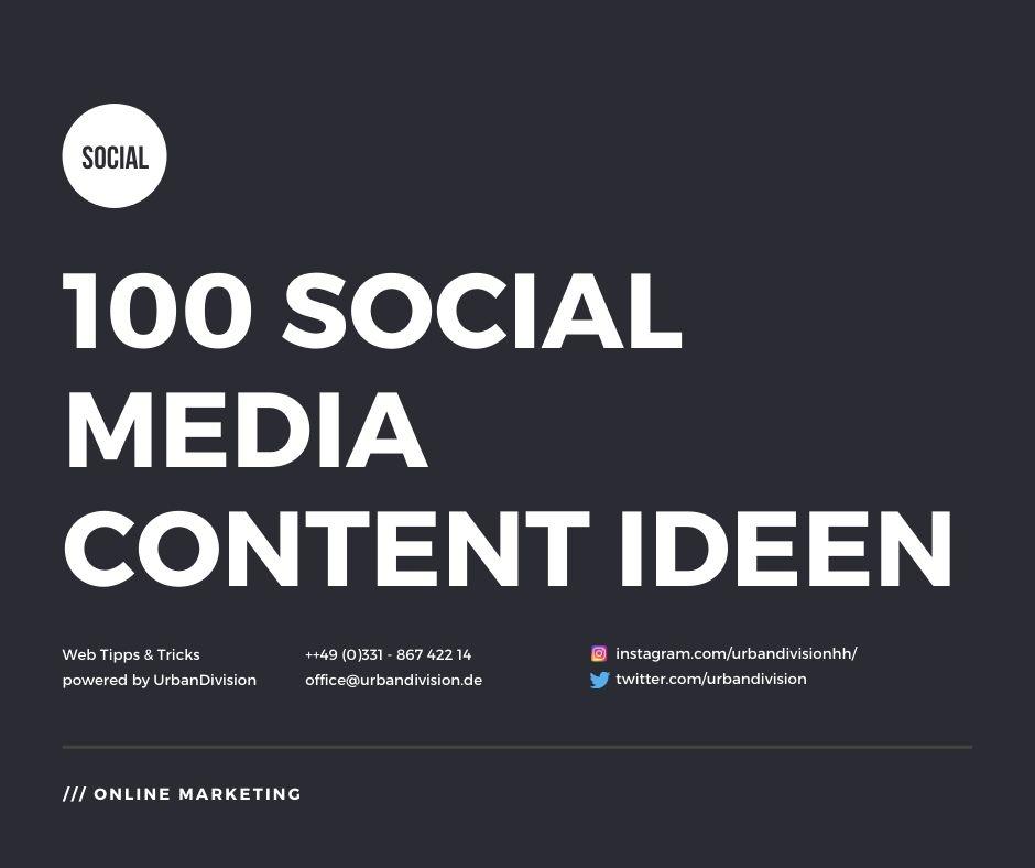 Social Media Posting Ideen