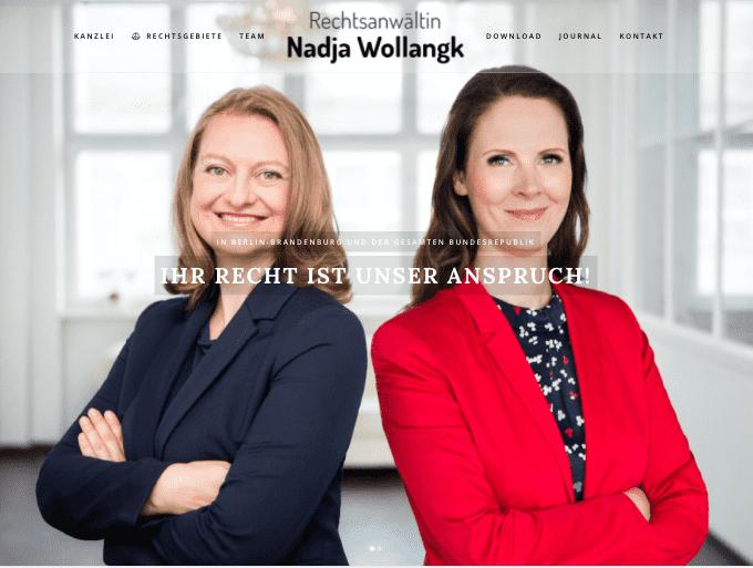 Fachanwältin Nadja Wollangk